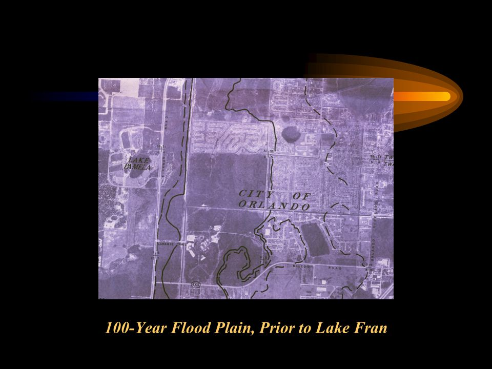 100-Year Flood Plain, Prior to Lake Fran