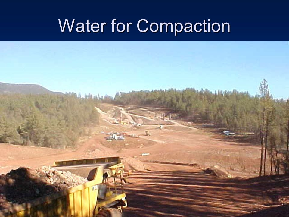 Water for Compaction