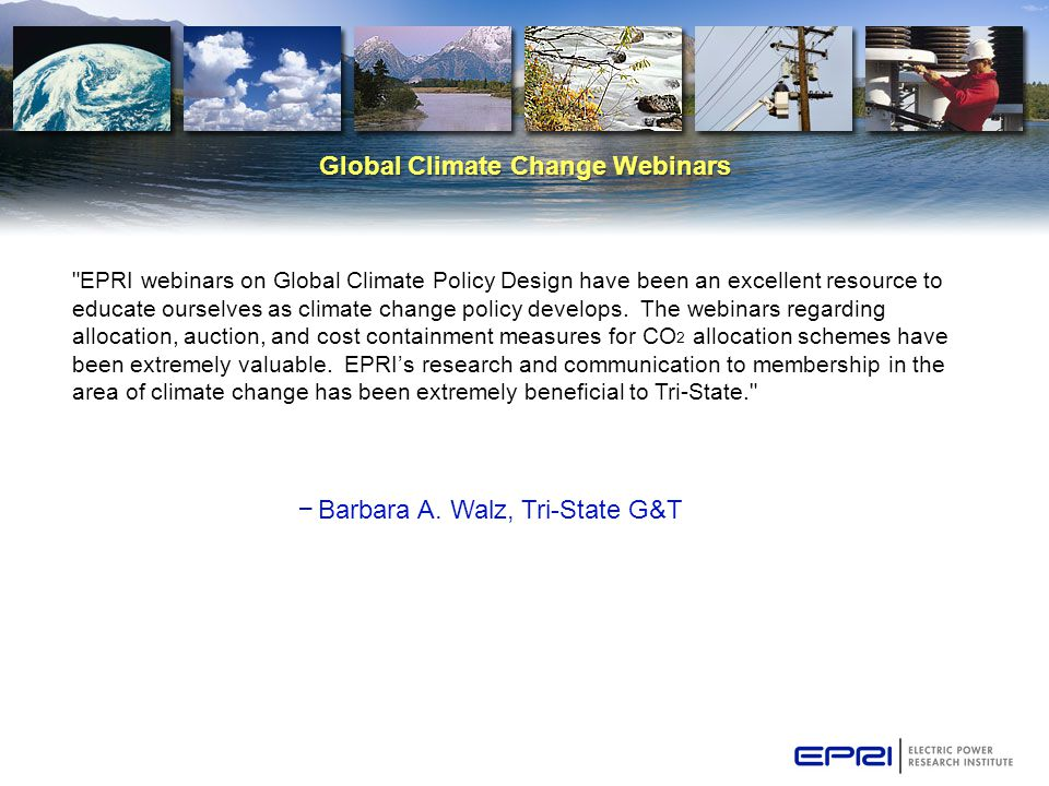 Global Climate Change Webinars – Barbara A.