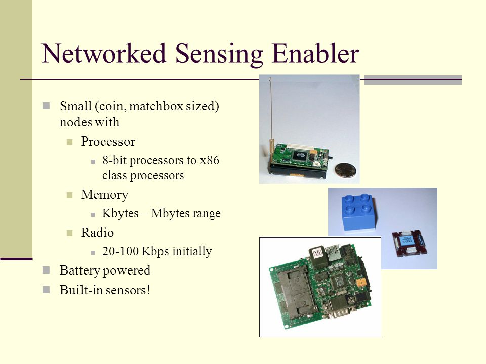 Sensing Remote Sensing In-situ Sensing Networked Sensing