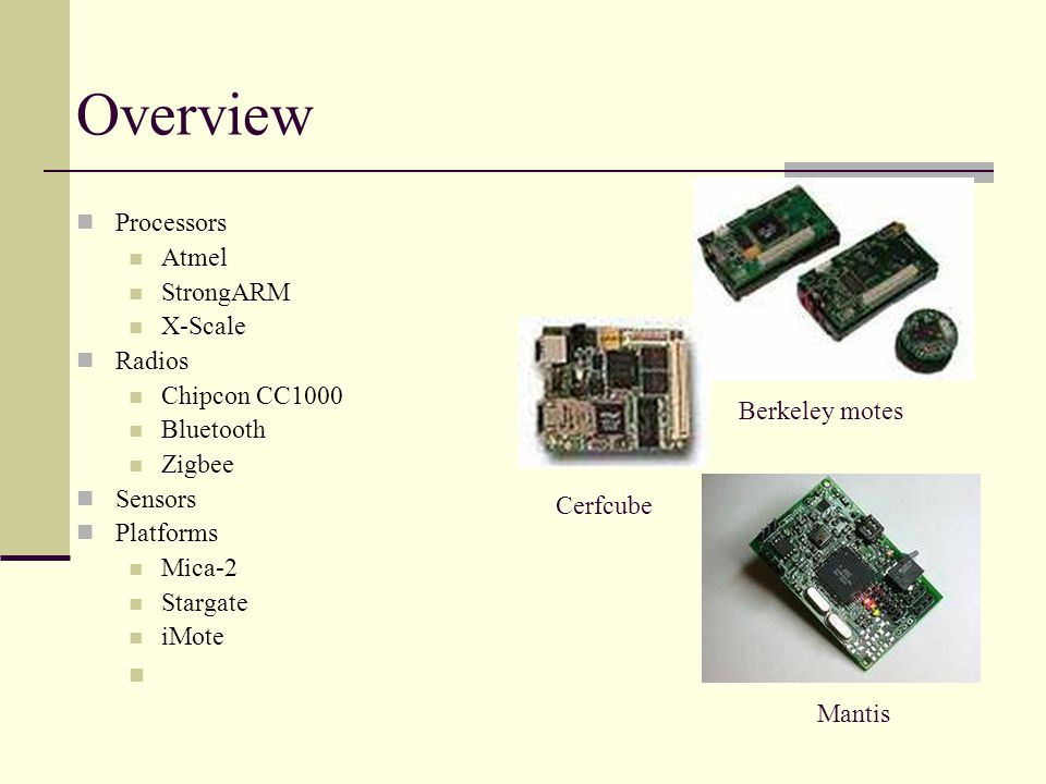 Hardware: Platforms, Radios and Sensors