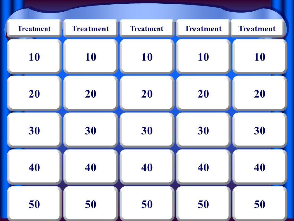 Treatment 10 20 30 40 50 40 30 20 10 50 40 30 20 10 50 40 30 20 10 50 40 30 20 10