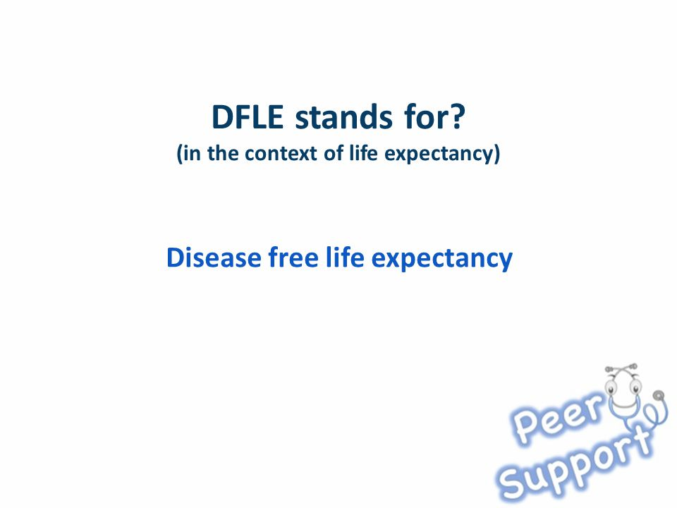 Disease free life expectancy