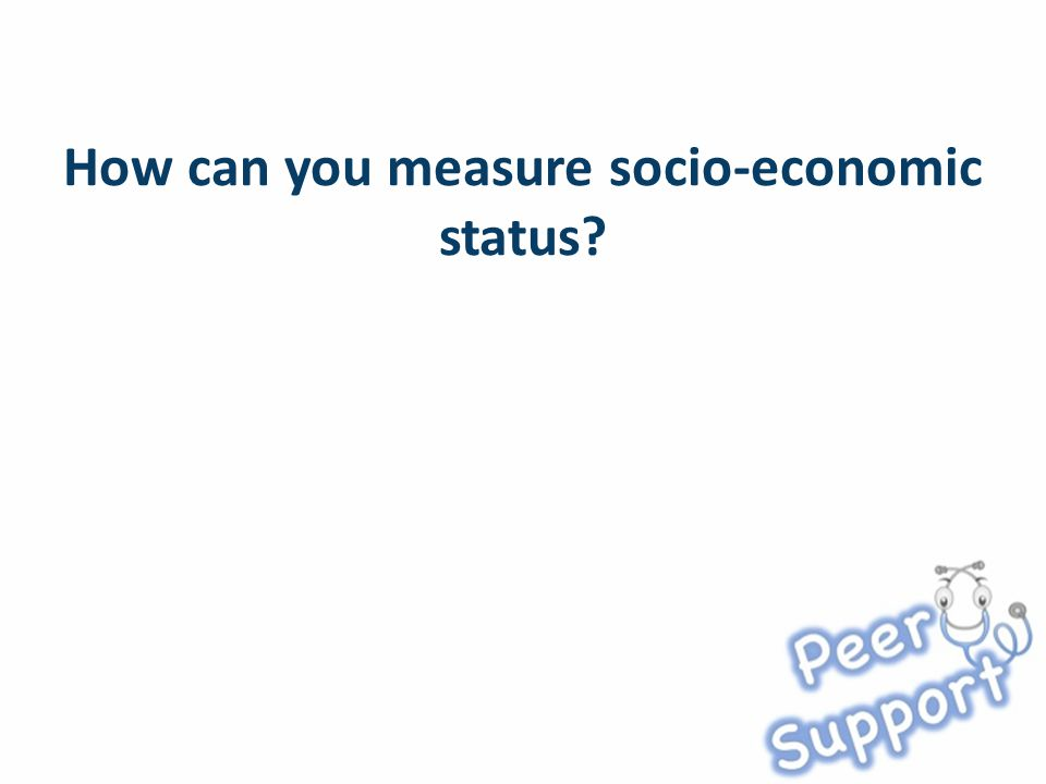 How can you measure socio-economic status