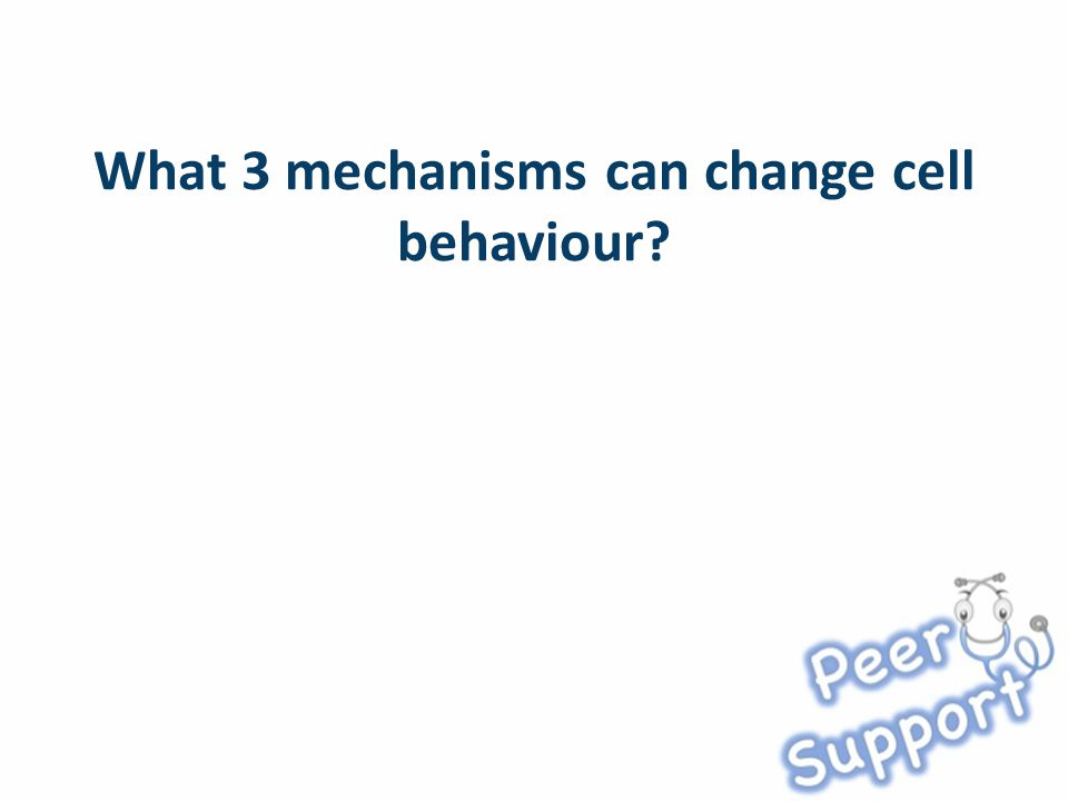 What 3 mechanisms can change cell behaviour