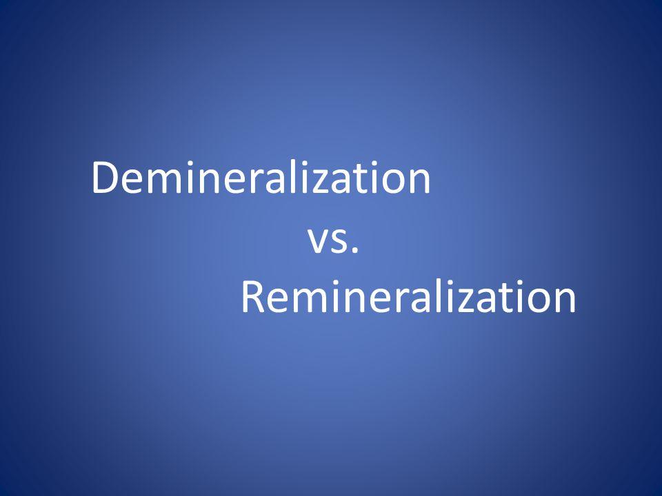 Demineralization vs. Remineralization