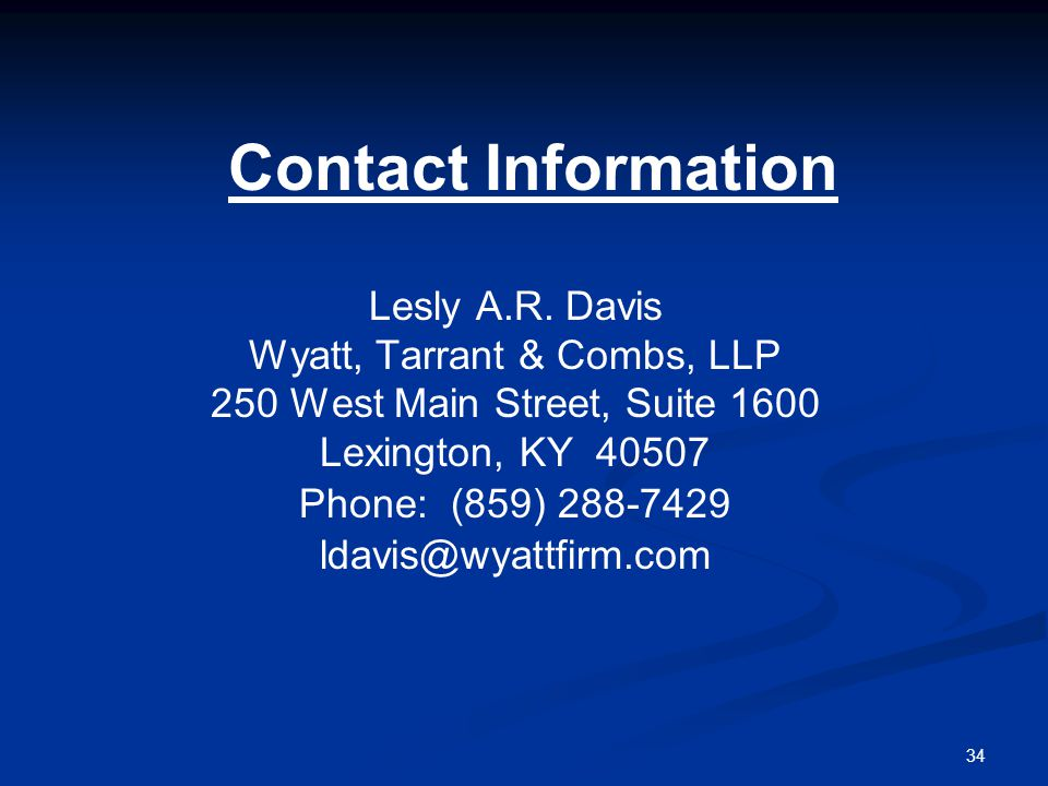 34 Contact Information Lesly A.R.
