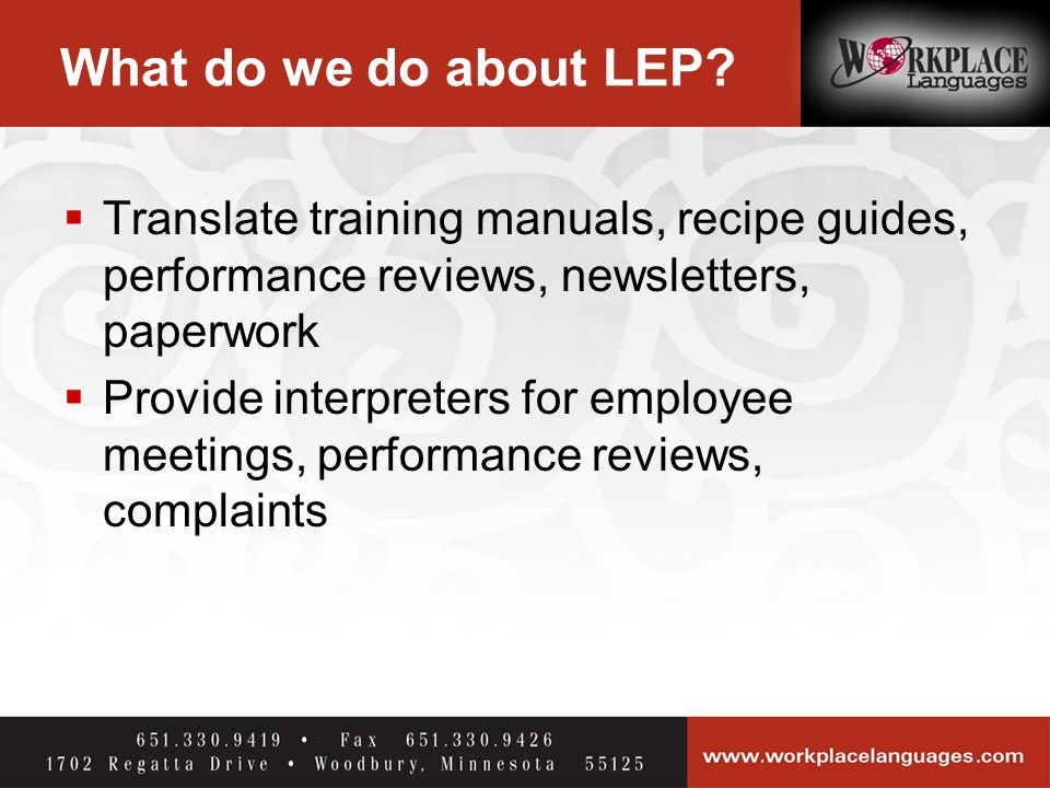 What do we do about LEP.