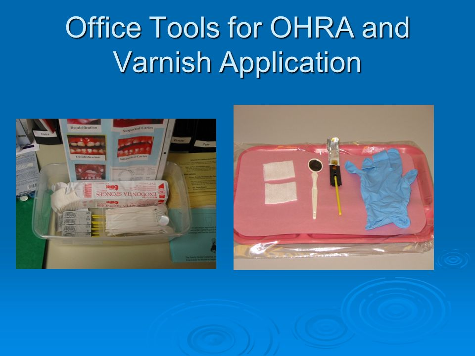 Office Tools for OHRA and Varnish Application
