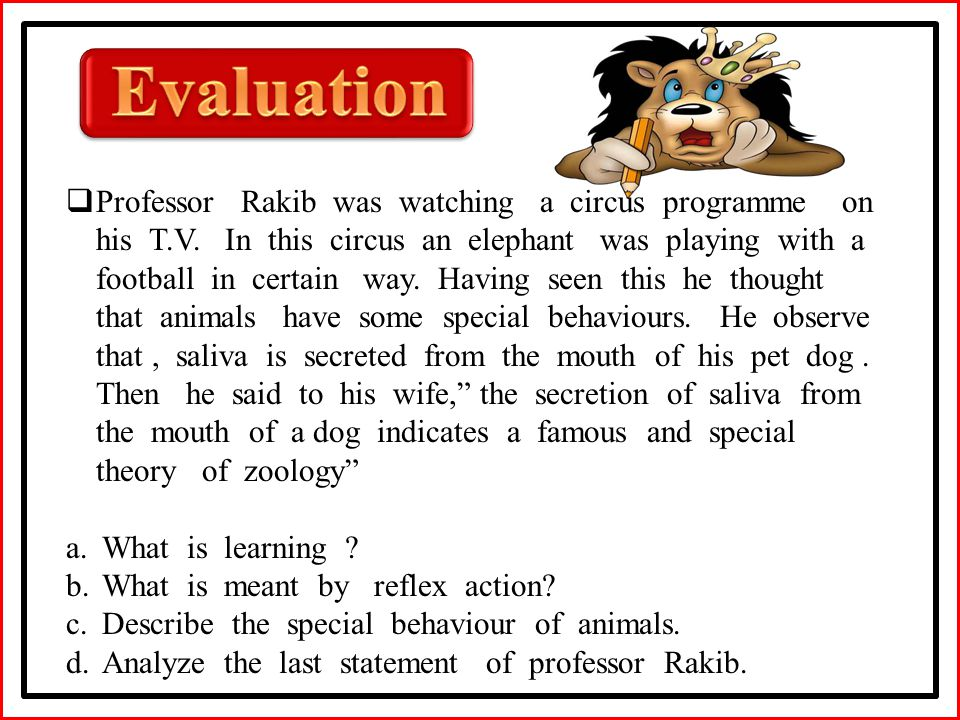  Professor Rakib was watching a circus programme on his T.V.