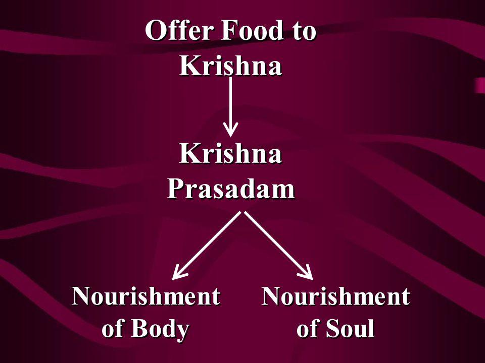 Nourishment of Body Nourishment of Soul Krishna Prasadam Offer Food to Krishna