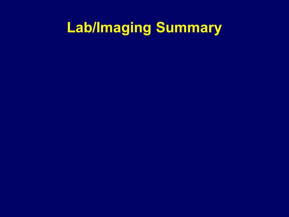 Lab/Imaging Summary