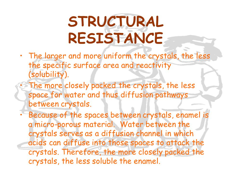 STRUCTURAL RESISTANCE The larger and more uniform the crystals, the less the specific surface area and reactivity (solubility). The more closely packe