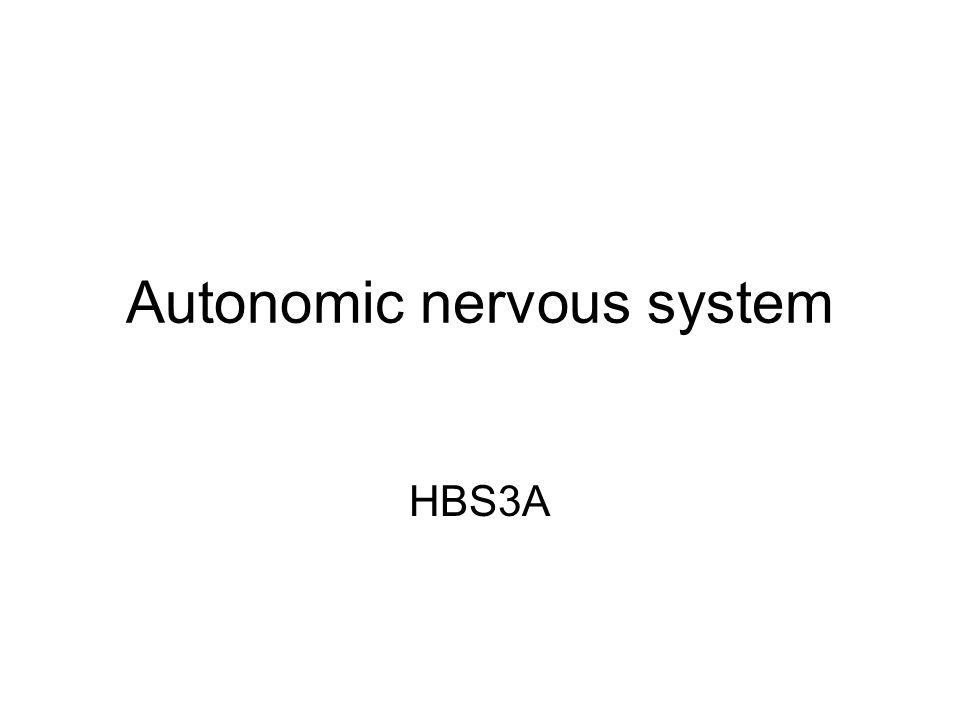 Autonomic nervous system HBS3A