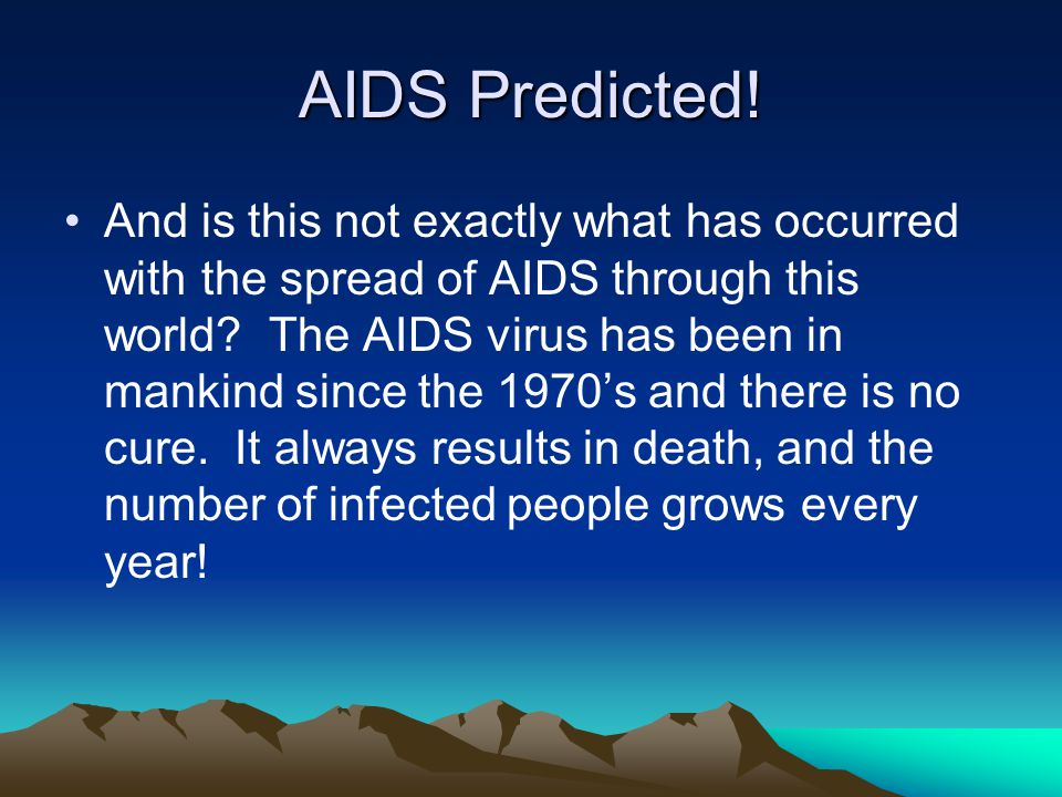 AIDS Predicted.