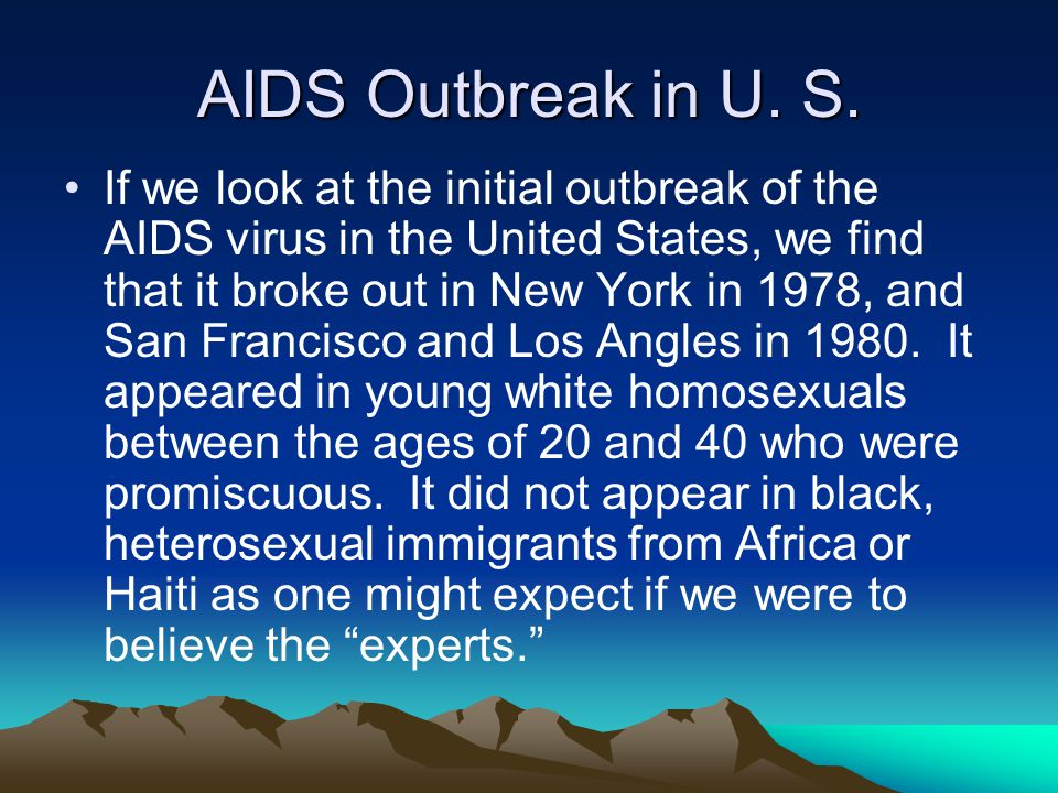 AIDS Outbreak in U. S.