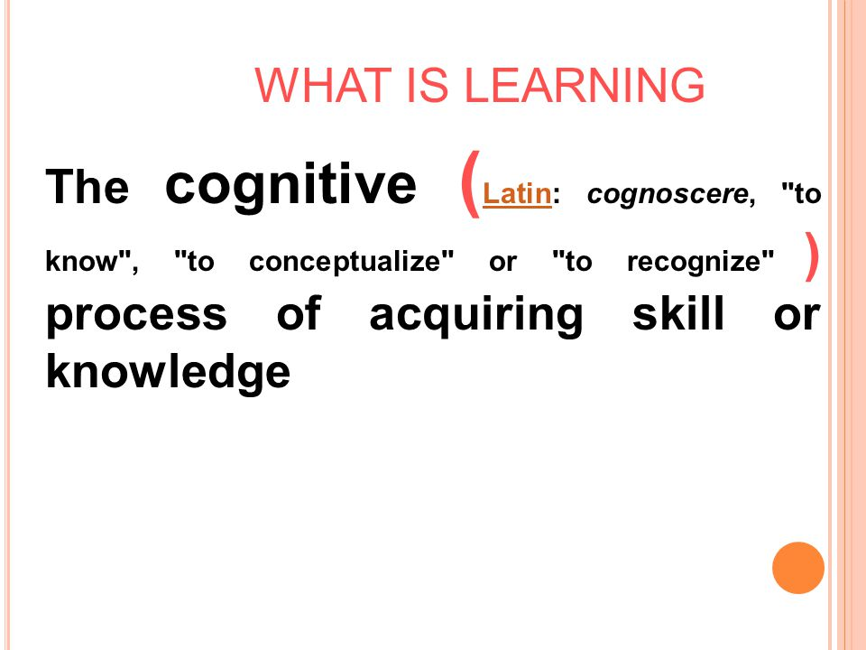 C OGNITIVE L EARNING T HEORY  Discovery Learning 2.