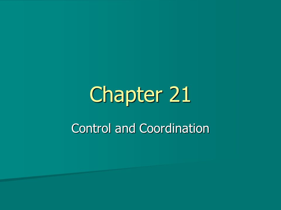 Chapter 21 Control and Coordination