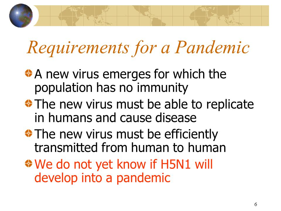 7 Avian Flu Vaccine to combat H5N1 Human trials conducted.