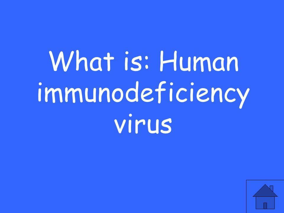 What is: Human immunodeficiency virus