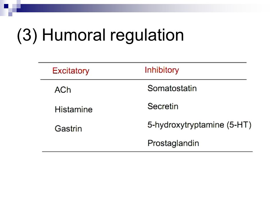 (3) Humoral regulation