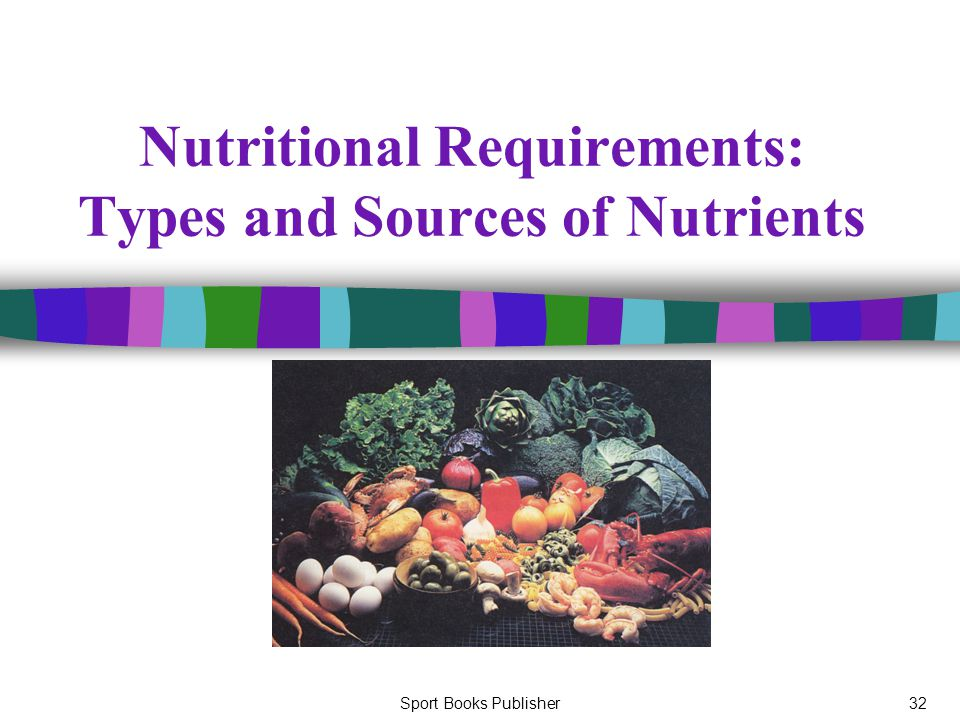 Sport Books Publisher32 Nutritional Requirements: Types and Sources of Nutrients