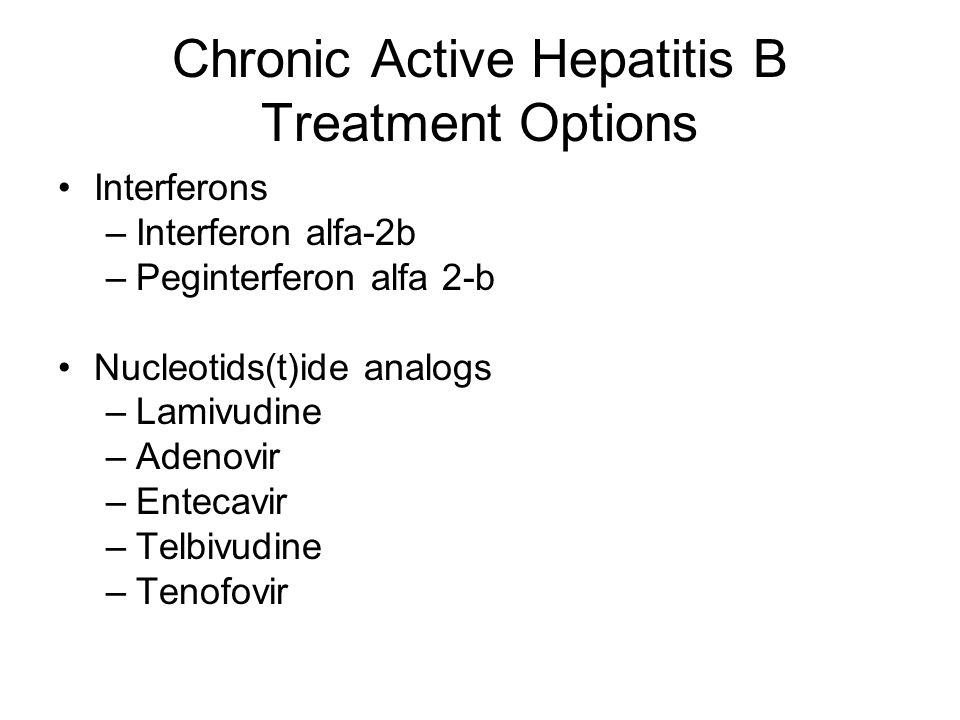 Chronic Inactive Hepatitis B Infection Surveillance monitoring for reactivation