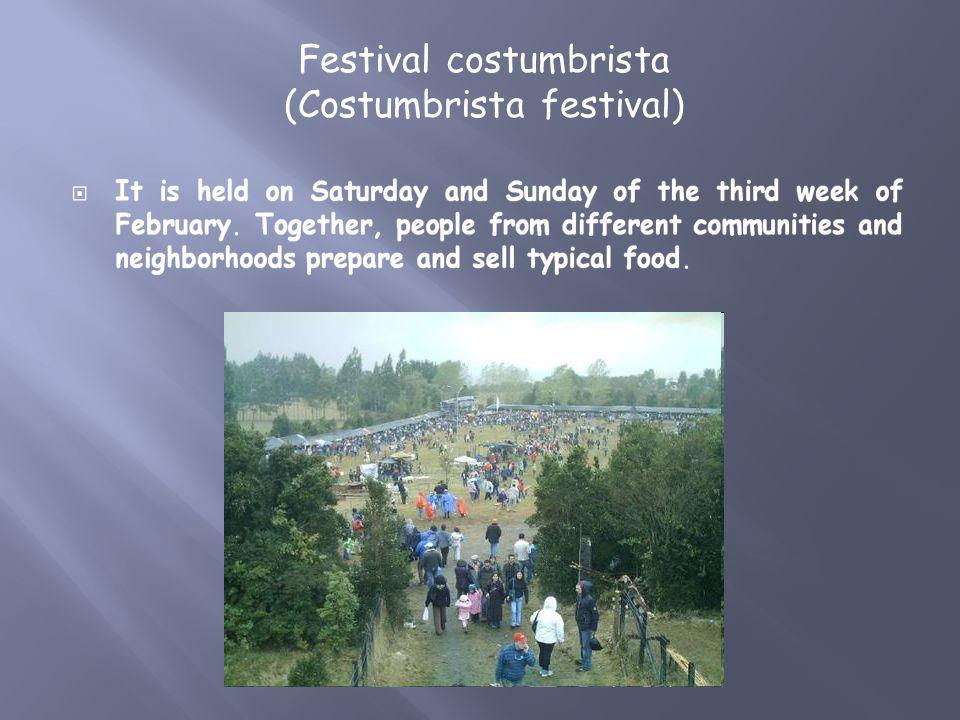 Festival costumbrista (Costumbrista festival)