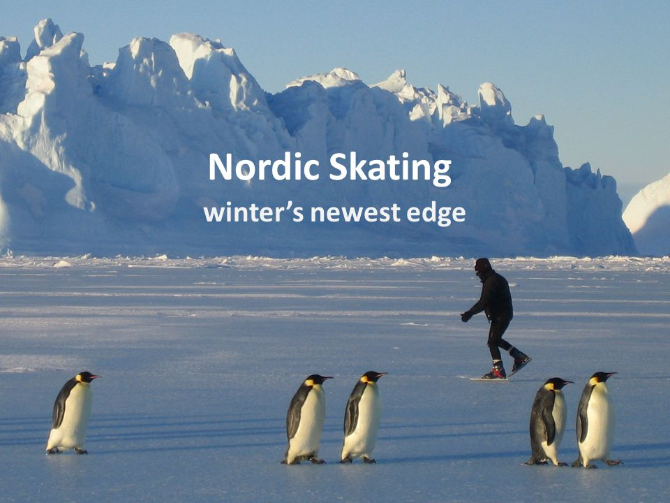 Nordic Skating winter's newest edge