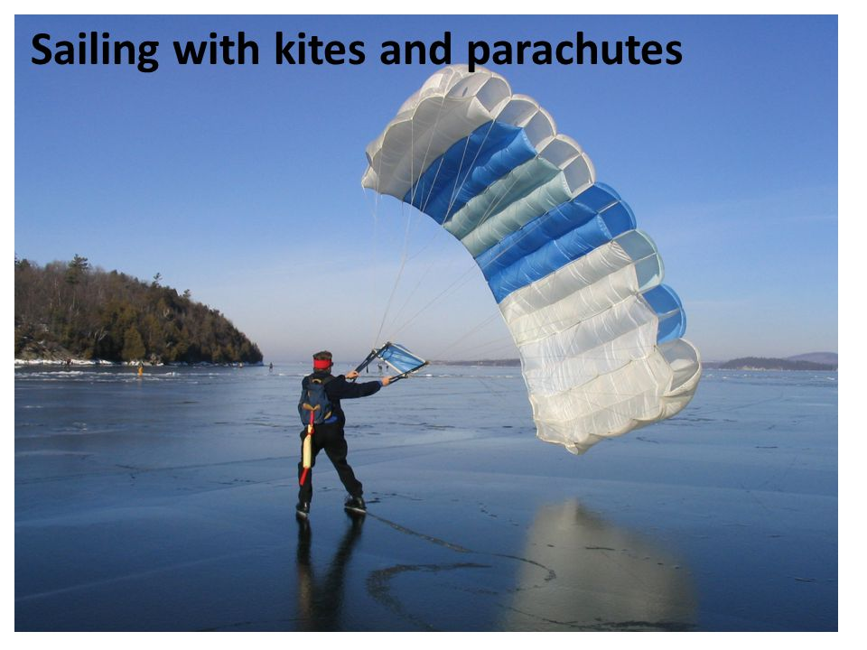 Sailing with kites and parachutes