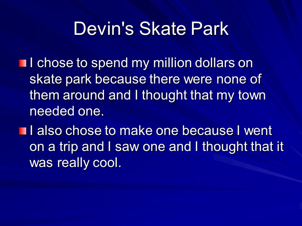 How I Spent a Million Dollars on a Skate Park by Devin J. Distilli