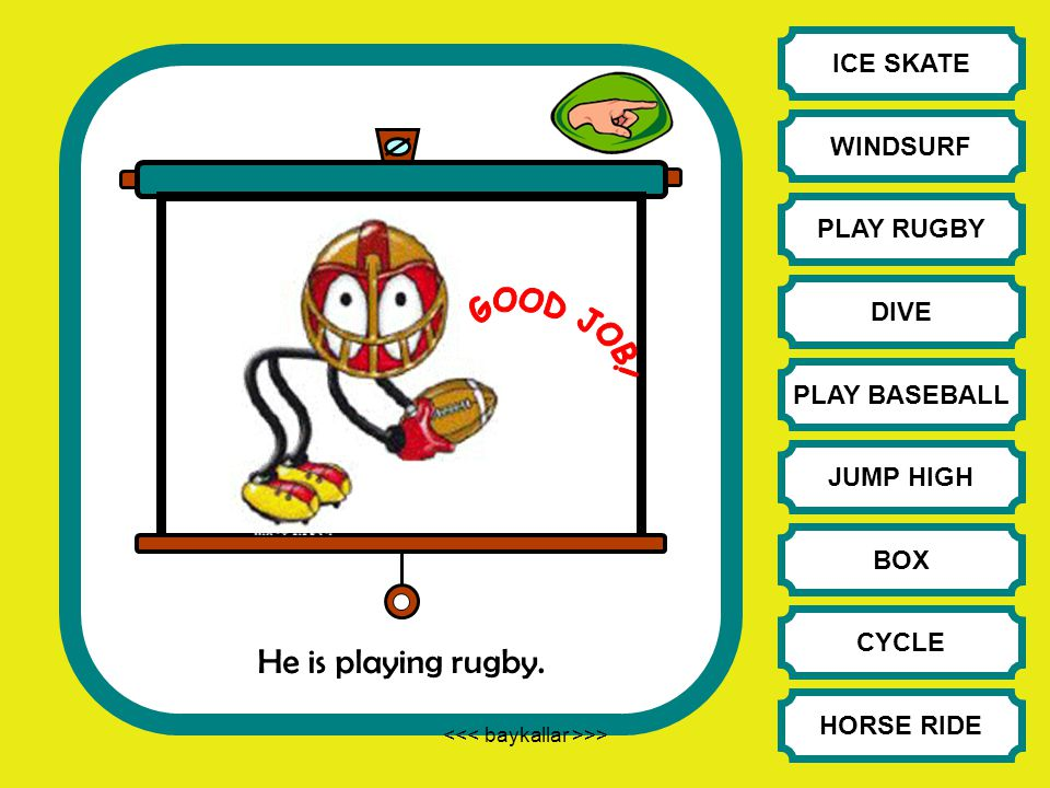 He is playing rugby.