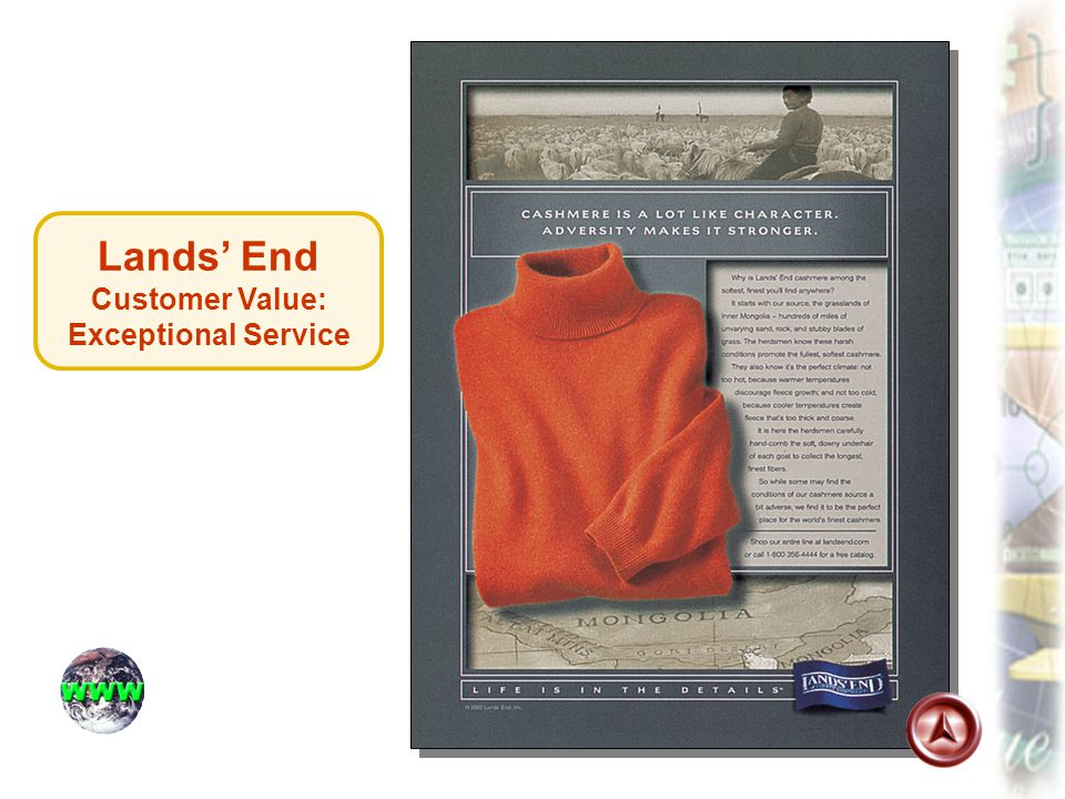 Lands' End Customer Value: Exceptional Service