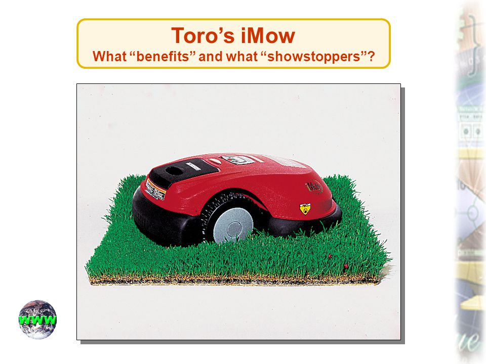 Toro's iMow What benefits and what showstoppers
