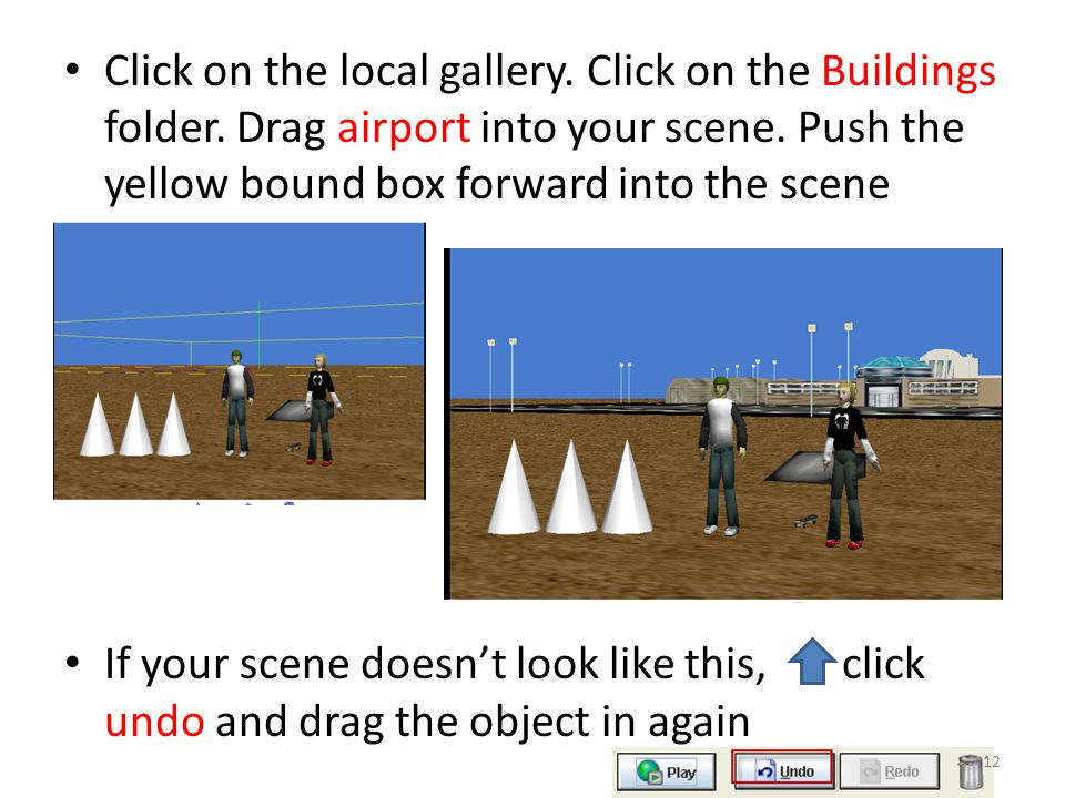 Click on the local gallery. Click on the Buildings folder.