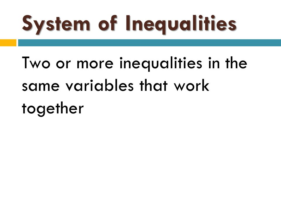 Solution to a System of Linear Inequalities The intersection of the half planes of the inequalities.