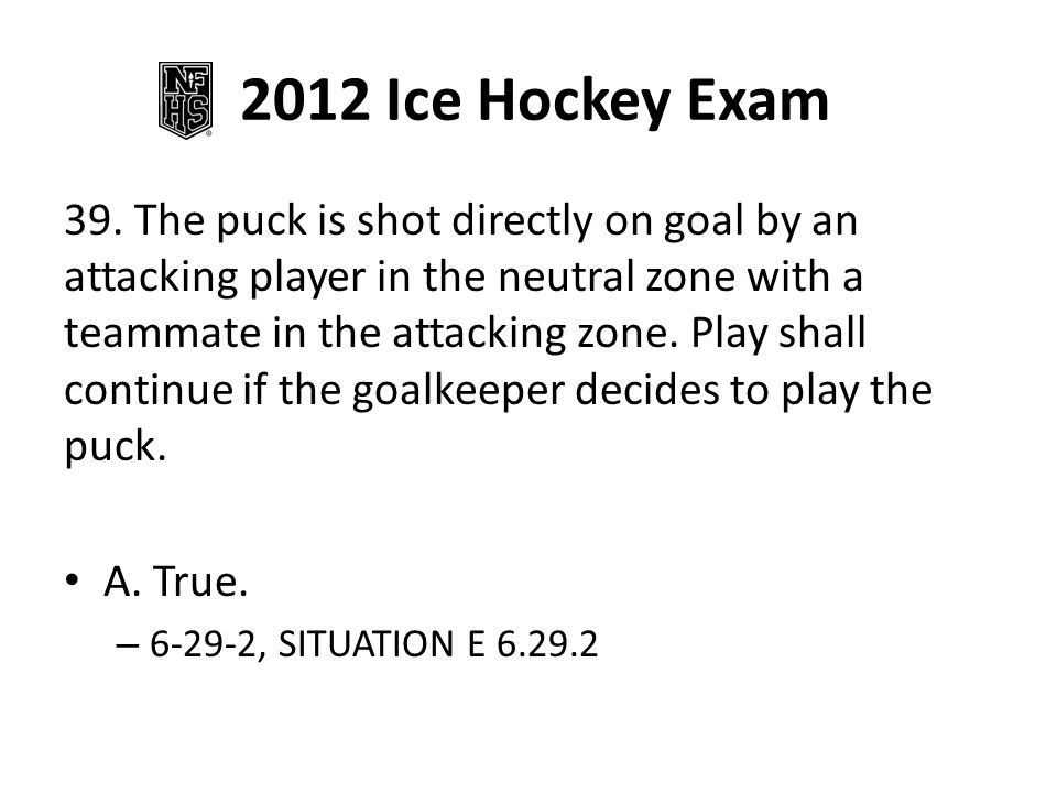 2012 Ice Hockey Exam 39.