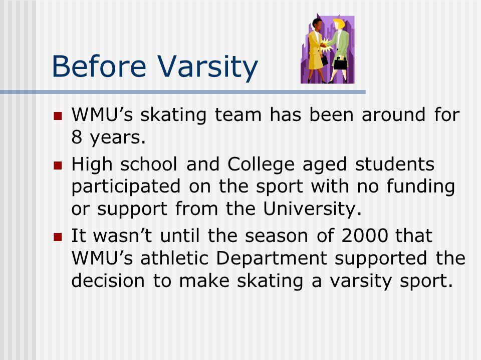 Before Varsity WMU's skating team has been around for 8 years.