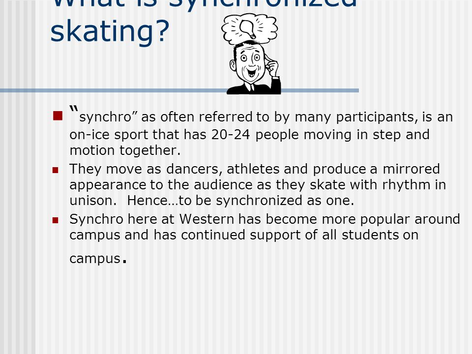 What is synchronized skating.