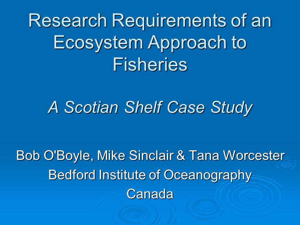 Eastern Scotian Shelf Atlantic Canadian lab since 1998