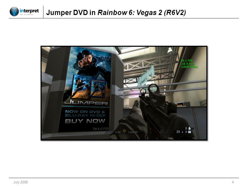 4 July 2008 Jumper DVD in Rainbow 6: Vegas 2 (R6V2)