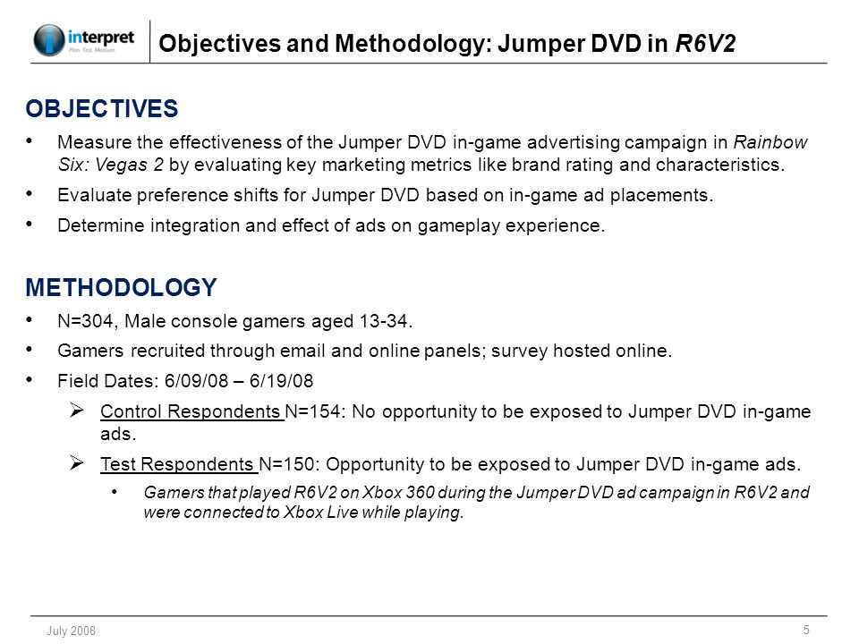 16 July 2008 Jumper DVD Ad Fit, and Opinion Change in R6V2 Jumper Ad Fit as a Natural Part of Game Q.