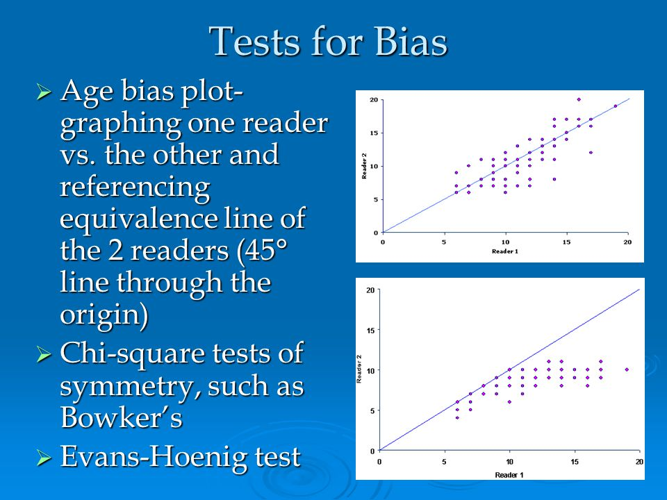 Evaluating Precision  Average percent error (APE) May serve as good relative indicator of precision within and between readers May serve as good rela