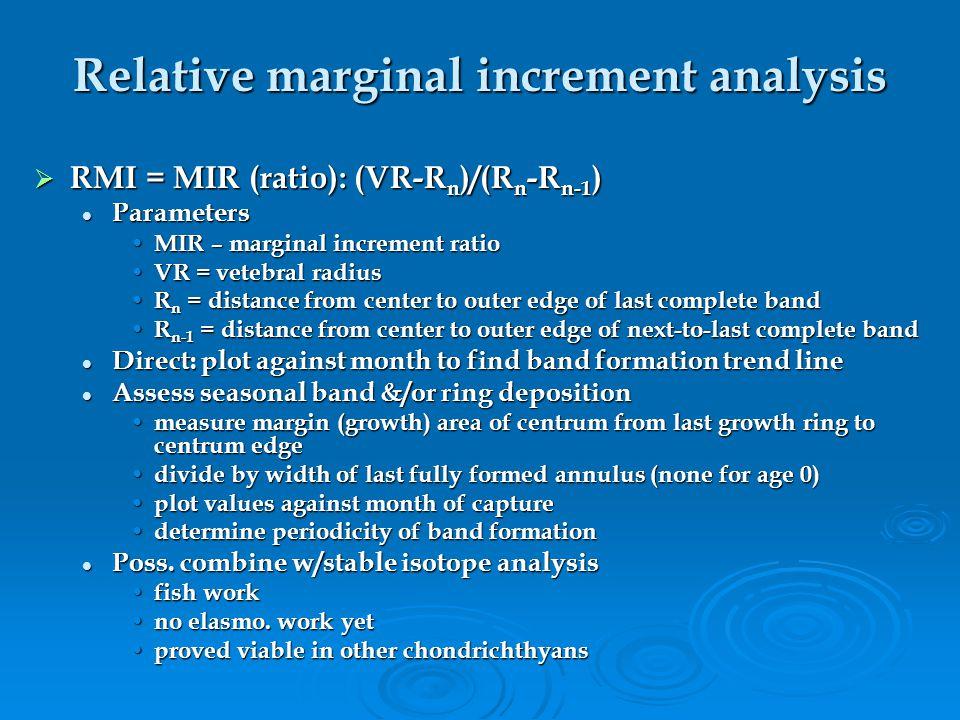 Centrum edge analysis  Centrum edge analysis: Compares opacity (width) &/or translucency (density) of centrum edge over time Compares opacity (width)