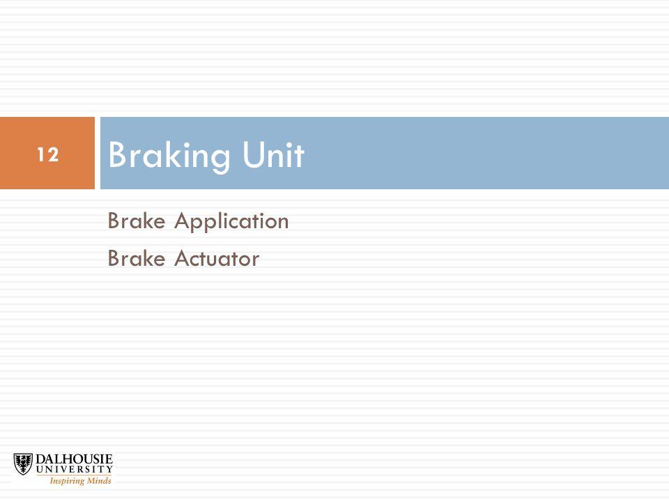 Brake Application Brake Actuator Braking Unit 12