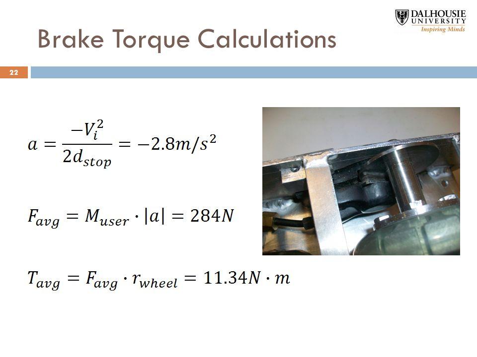 Brake Torque Calculations 22