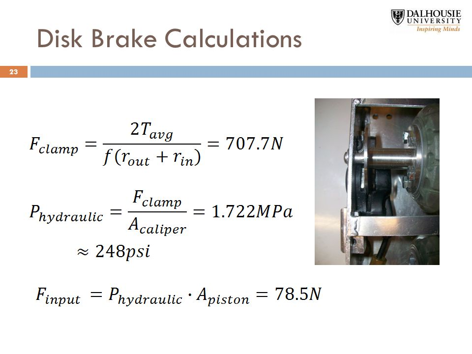 Disk Brake Calculations 23