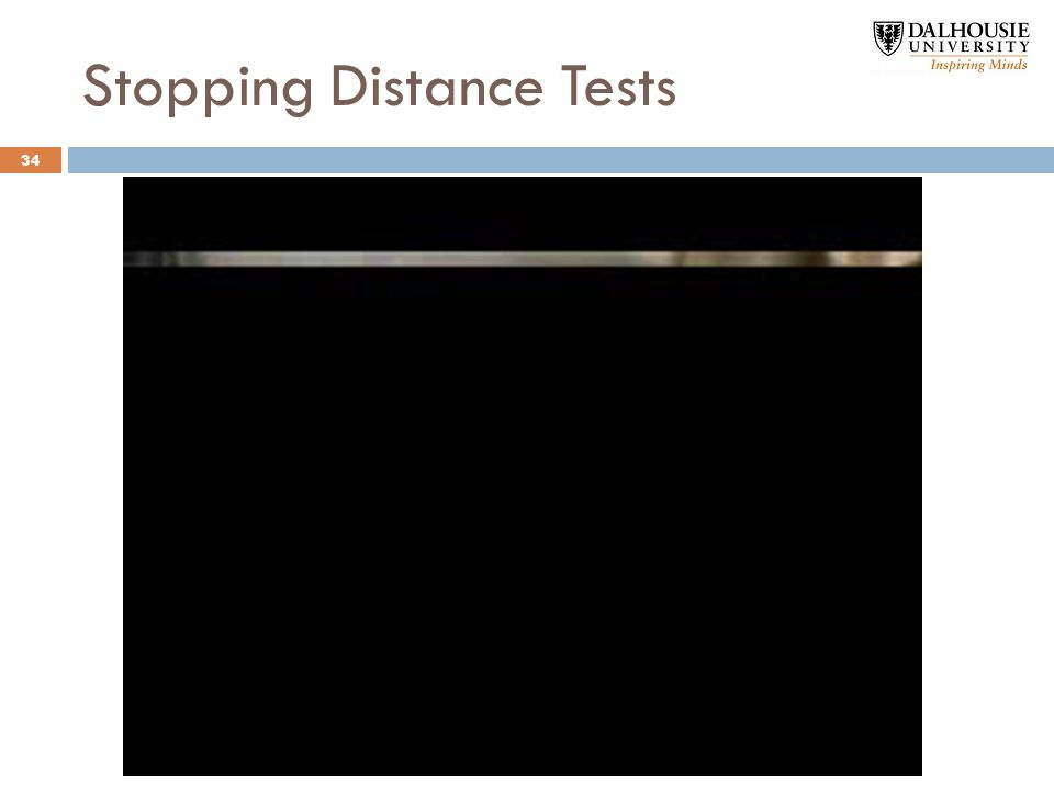 Stopping Distance Tests 34