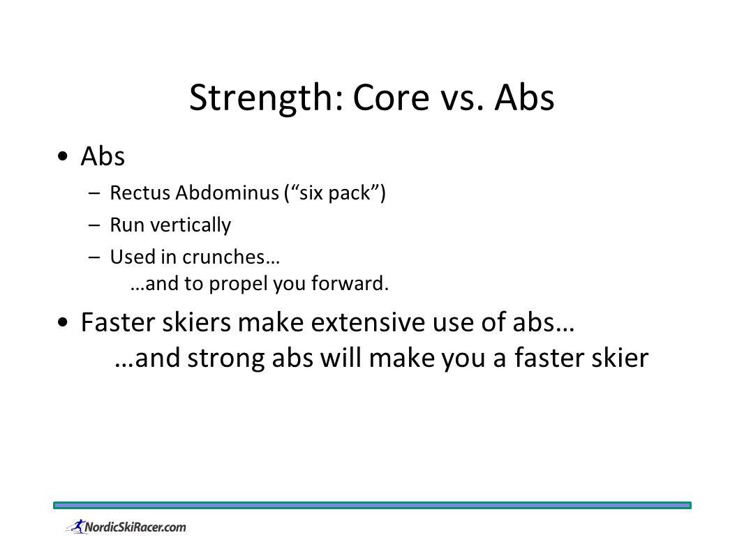 Strength: Core vs.