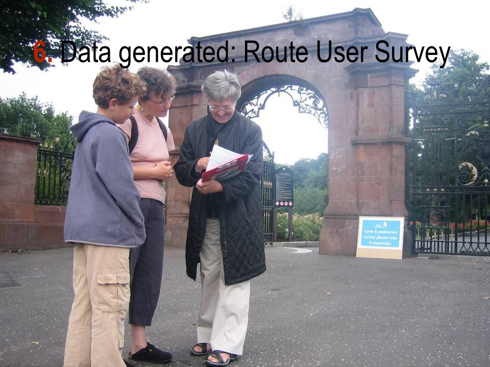 6. Data generated: Route User Survey